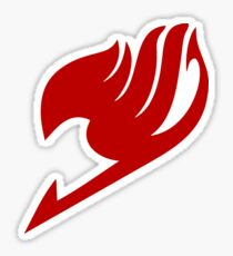 FAIRY TAIL Logo Red Sticker