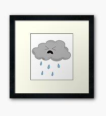Sad, Mad Rainy Cloud Framed Print