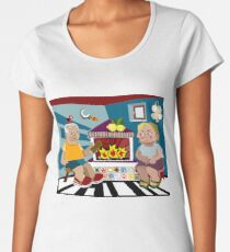 Rural Family Portrait Women's Premium T-Shirt