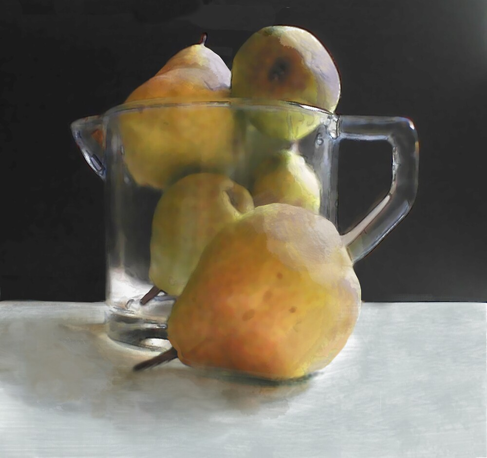 Pears and Glass by Jing3011