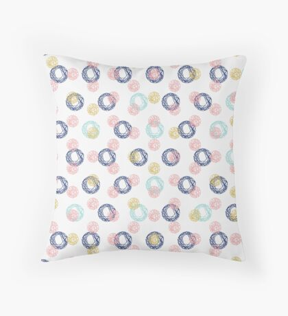 Colorful Scribbles Throw Pillow