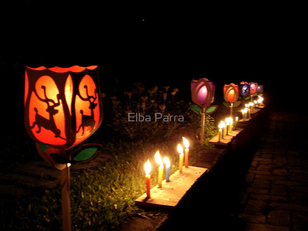 Candle Day by Elba Parra