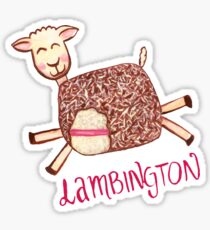 Lambington - Pink Sticker