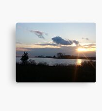 Long Island Sound Sunset Canvas Print