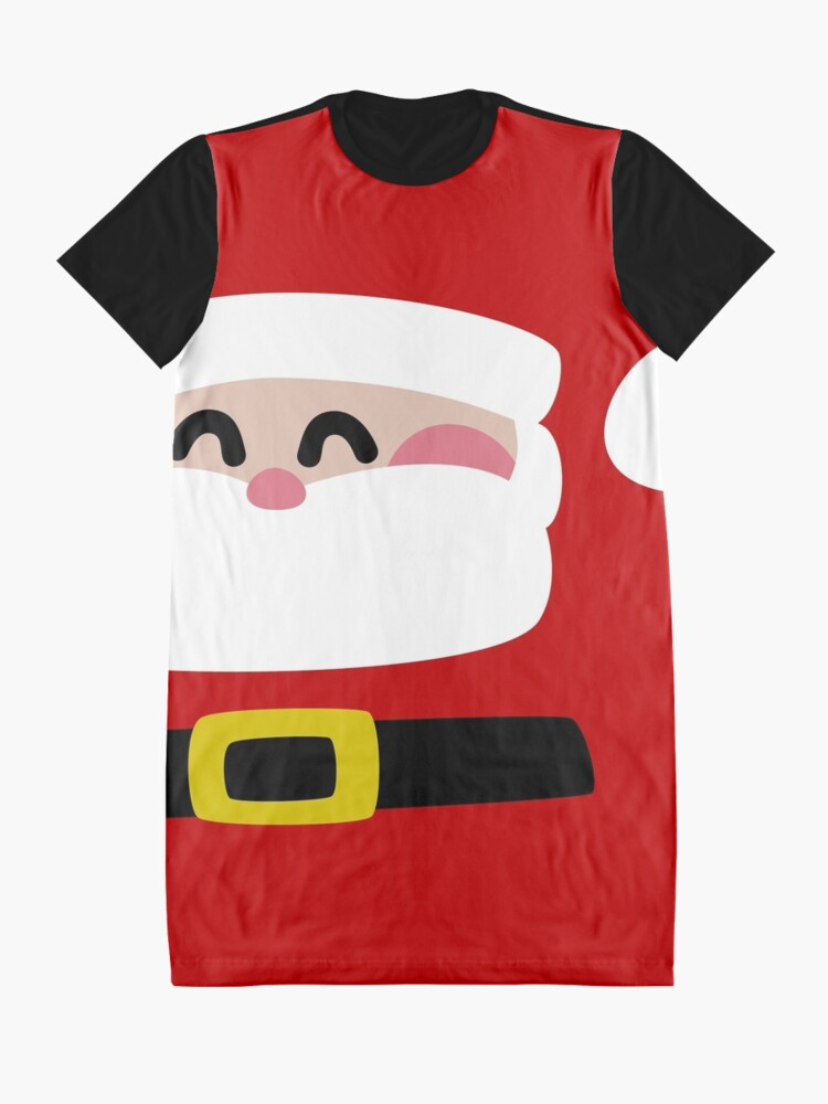 Alternate view of Merry Christmas Santa Claus Graphic T-Shirt Dress