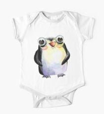 Cute Watercolour Animals Penguin Kids Clothes