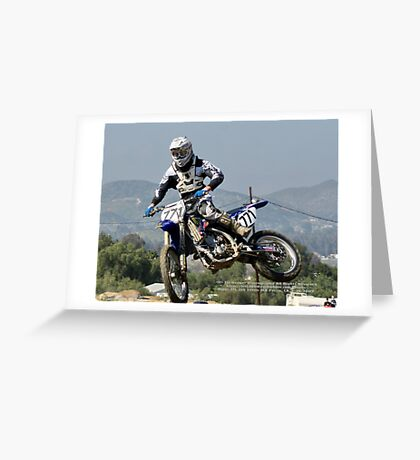Perris MX; LLQ April 2009 Rider 771; All Rights Reserved Lei Hedger Photography Greeting Card