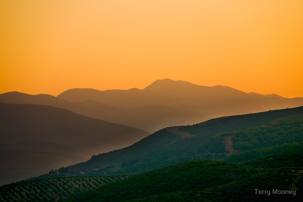 sunrise over the Peleponese by Terry Mooney
