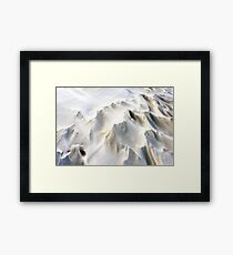 Snowdrifts in Snow at Winter Framed Print