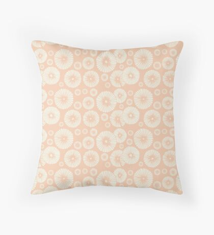 Pink Flowers on Tropical Blush Throw Pillow