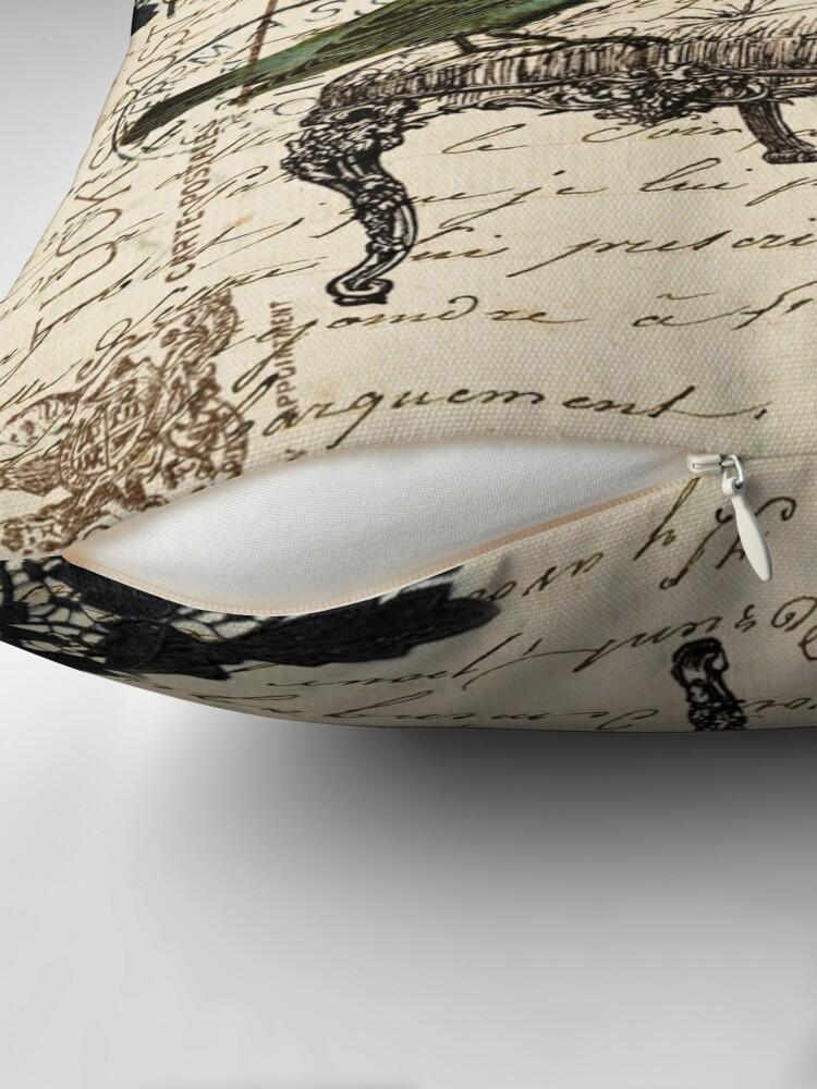 Alternative Ansicht von Shabby Chic Vintage Vogel Skripte französischen Stuhl Kronleuchter Dekokissen