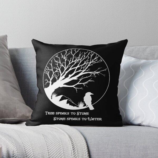Tree Speaks to Stone.... reversed Throw Pillow