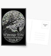Yule Greetings Card Postcards