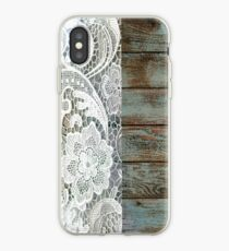West Country Distressed blau Scheune Holz weiß Spitze iPhone-Hülle & Cover