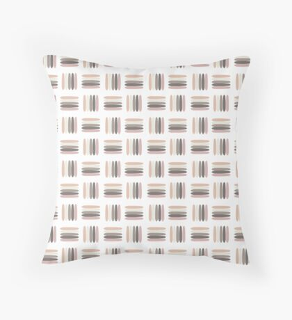 5 Markers Nude Colors Palette Throw Pillow