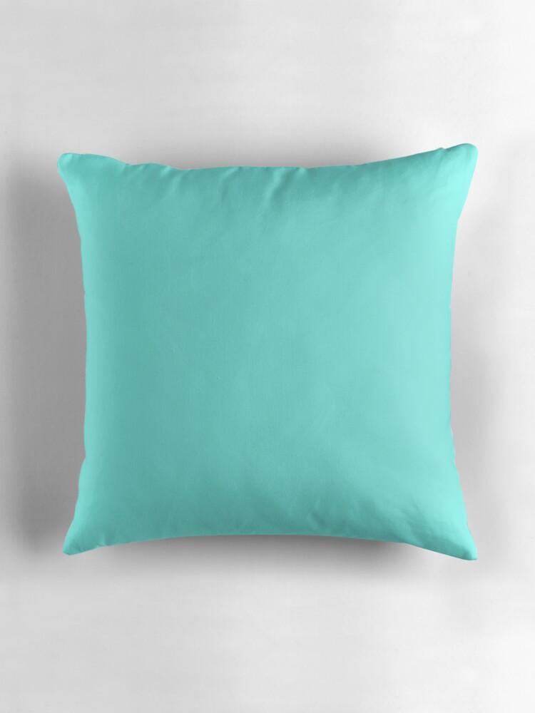 Throw Pillows Tiffany Blue :