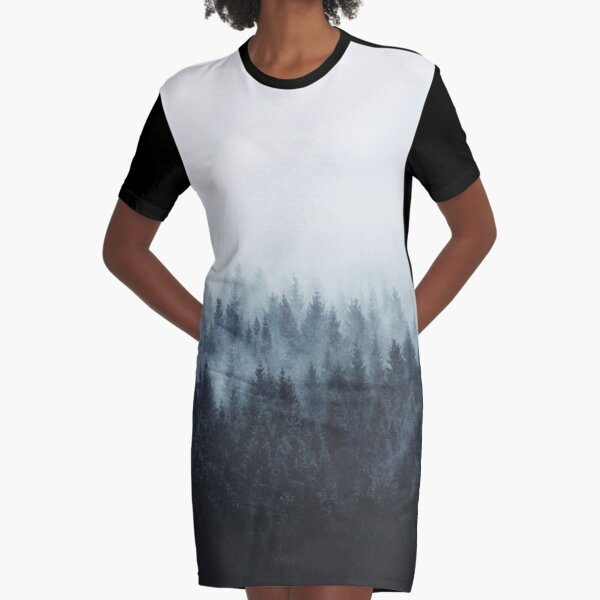 High And Low Graphic T-Shirt Dress