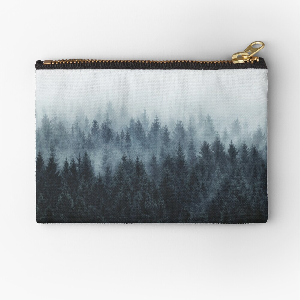 High And Low Zipper Pouch