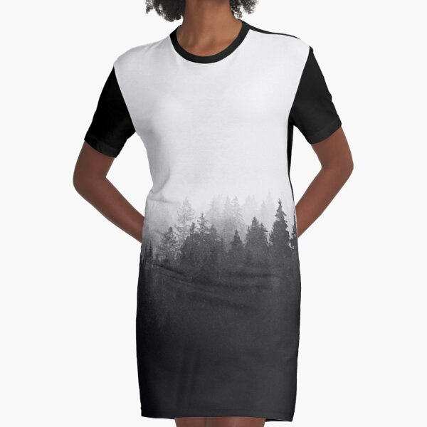 A Wilderness Somewhere Graphic T-Shirt Dress