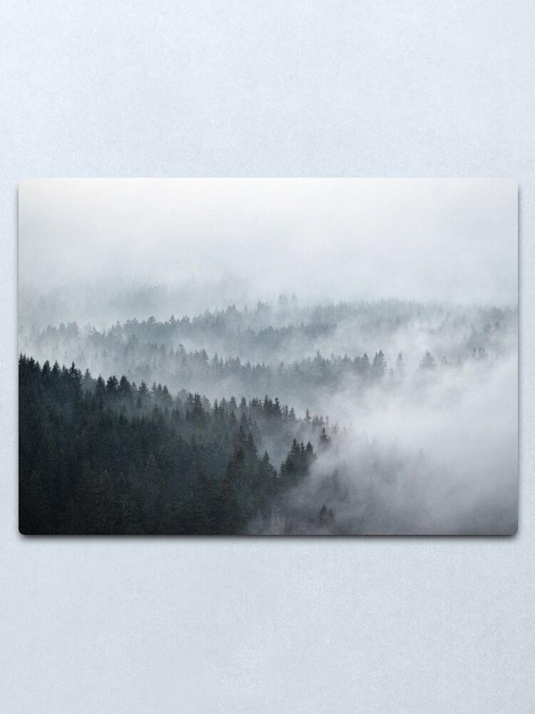 Alternate view of The Waves Metal Print