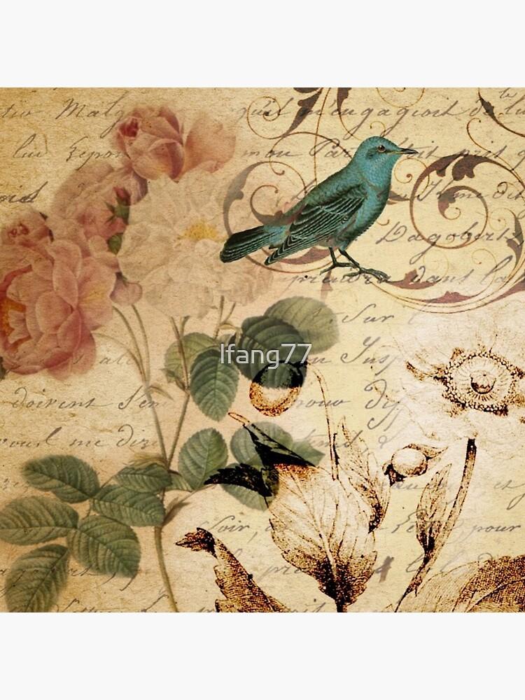 Rosen-Paris französische botanische Kunst der modernen Weinlese von lfang77