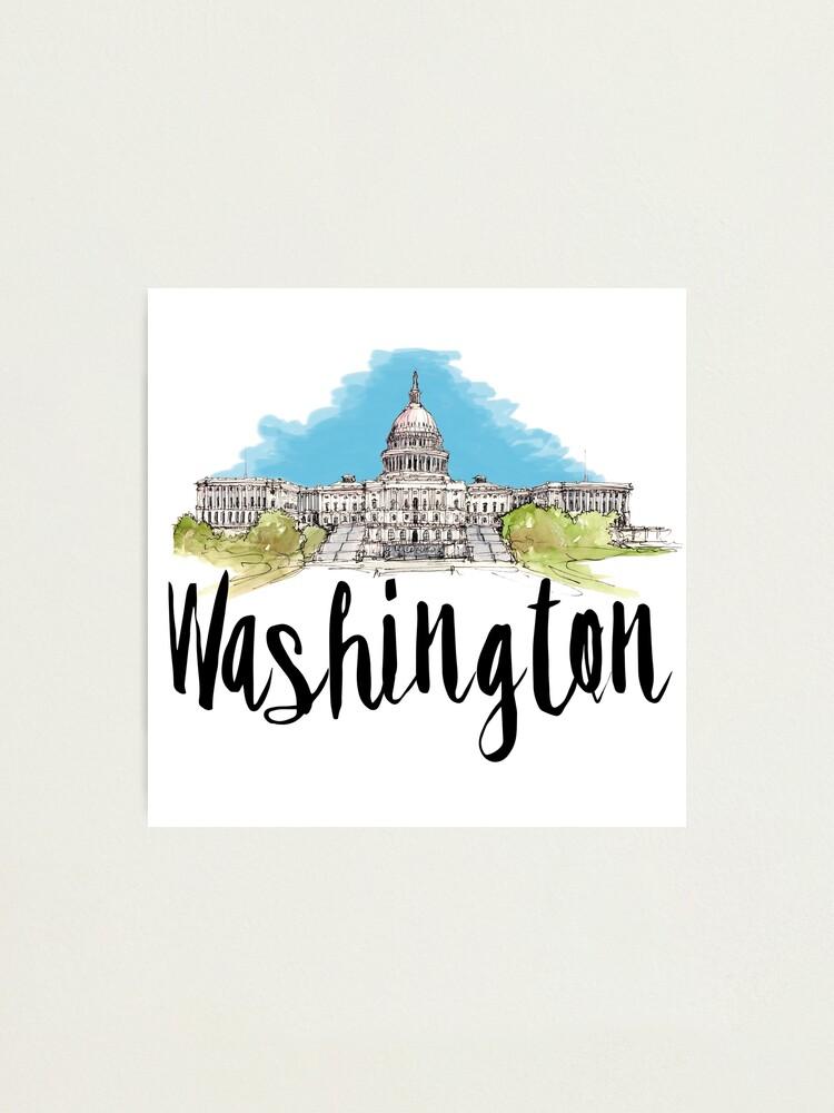 Alternate view of Washington Photographic Print