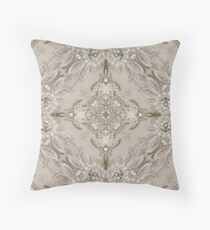 vintage Rhinestone lace pearl glamorous great gatsby Throw Pillow