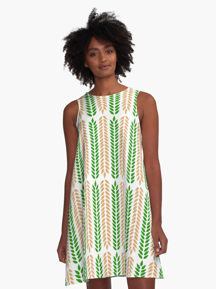 Wheatness A-Line Dress Front