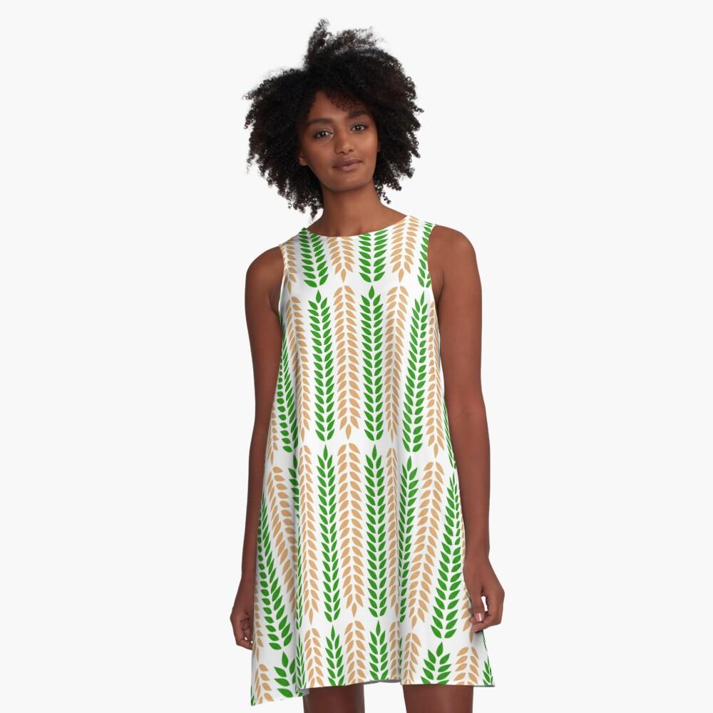 Wheatness A-Line Dress