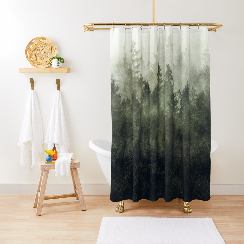 The Heart Of My Heart // Green Mountain Edit Shower Curtain