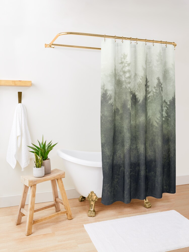 Alternate view of The Heart Of My Heart // Green Mountain Edit Shower Curtain