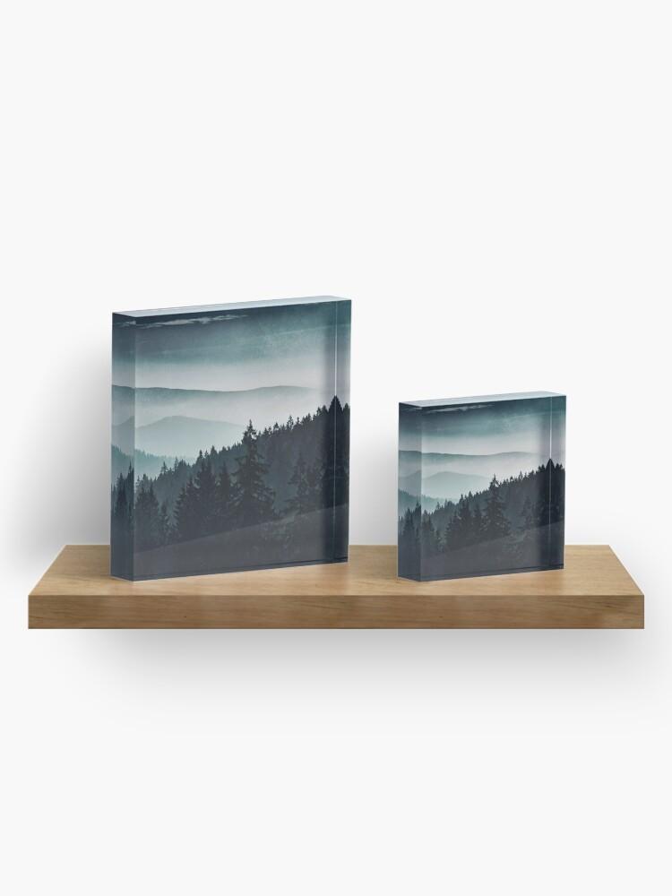 Alternate view of Mountain Light Acrylic Block