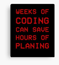 Coding-Planing design Canvas Print