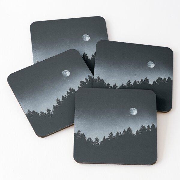 Under Moonlight Coasters (Set of 4)