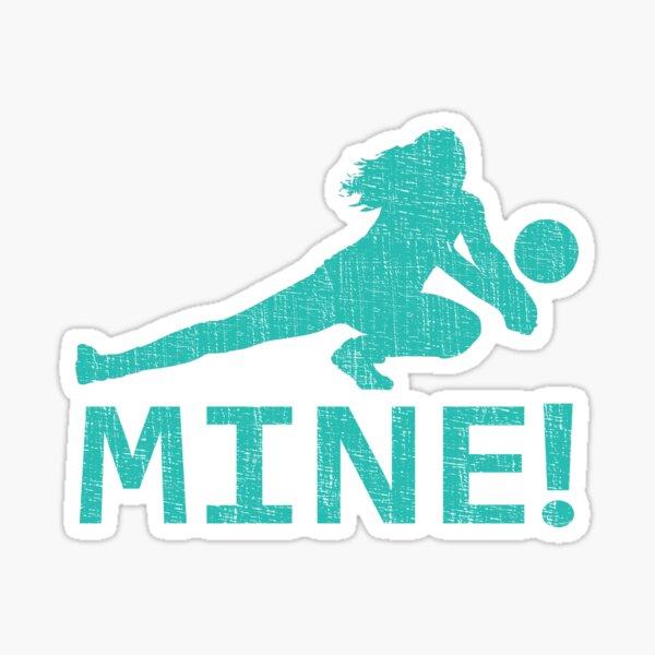 Fun Distressed Style Mine! Volleyball Player  Sticker