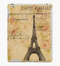 vintage floral retro  paris eiffel tower iPad Case/Skin