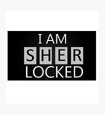 'I Am Sherlocked' Photographic Print