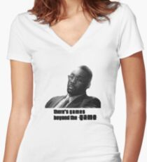 Stringer Bell - games beyond the Game Women's Fitted V-Neck T-Shirt