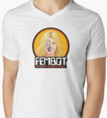 FEMBOT / DOLL TRIBUTE Men's V-Neck T-Shirt