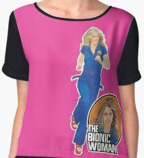 THE BIONIC WOMAN / DOLL TRIBUTE Women's Chiffon Top