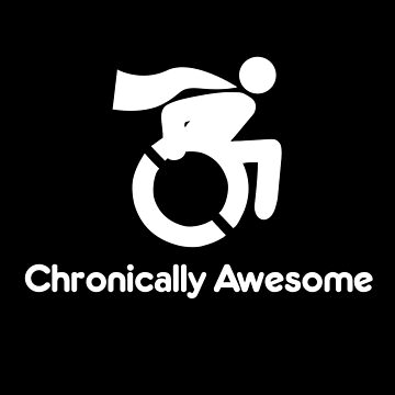 Chronically Awesome Wheelchair Superhero Design by roadworkplay