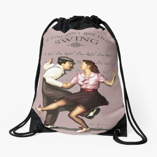 Lindy Hop Drawstring Bag