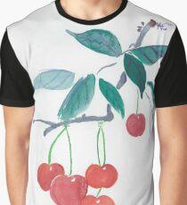 Ink Cherries Graphic T-Shirt