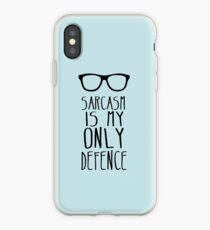 Vinilo o funda para iPhone El sarcasmo es mi única defensa