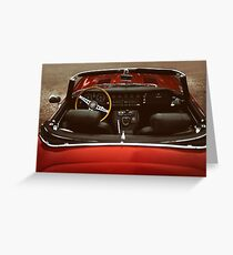 Driving seat Greeting Card