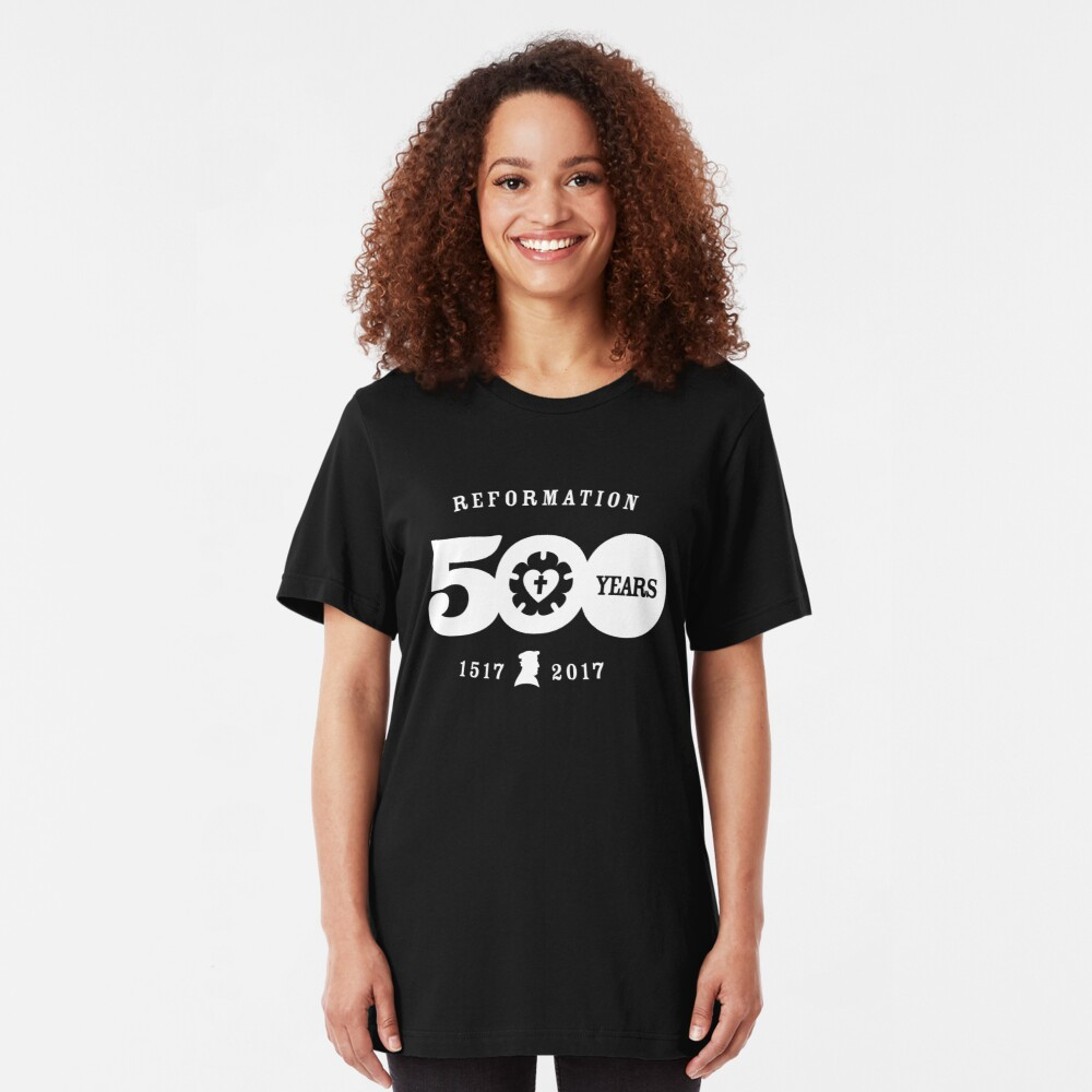 Reformation 500 Year Anniversary Luther Rose T-Shirt Slim Fit T-Shirt