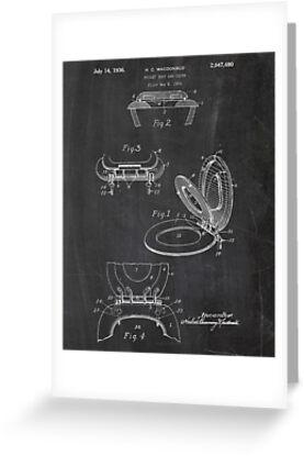 Toilettensitz Patent Poster, Badezimmer Wandkunst, WC, Badezimmer ...