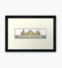 Wilderness Survival Life Framed Print
