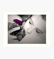 Pensive me (I) - Morpheo's purple call Art Print