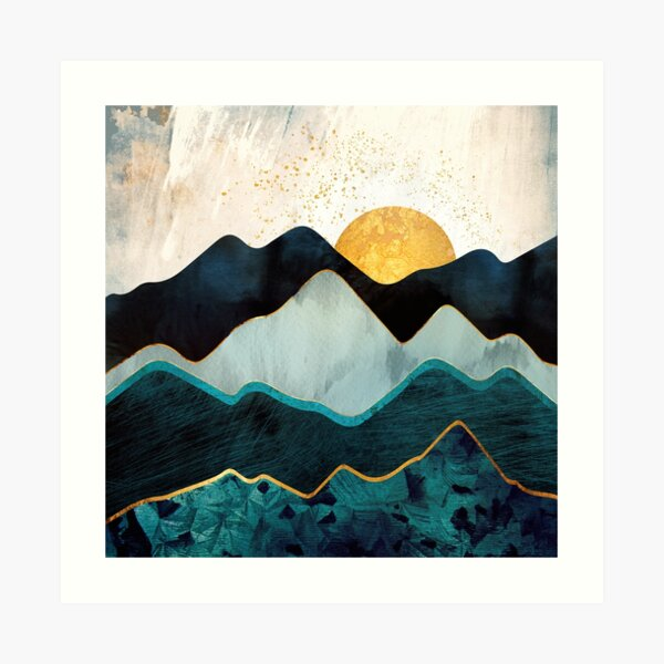 Glacial Hills Art Print